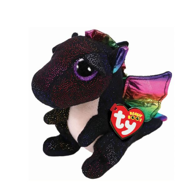 Anora the  Black Sparkly Dragon, TY Beanie Baby Boo.
